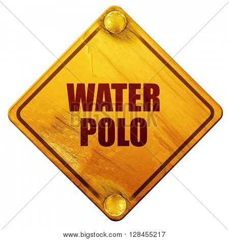 water polo sign background, 3D rendering, isolated grunge yellow