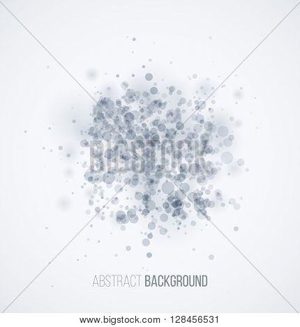 Blue circle sparkles on white background. Vector illustration