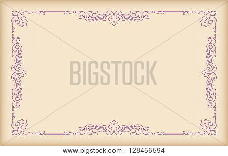Decorative rectangular frame on the light background.