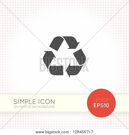Simple Recycle sign isolated on simple background. Recycling icon eps. Recycle icon illustration.