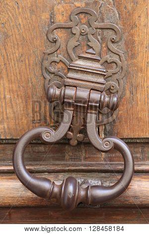 Ancient Door Knocker in the city of Paris