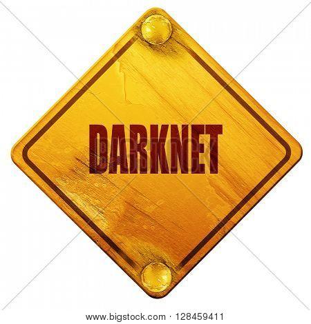 Darknet internet background, 3D rendering, isolated grunge yello