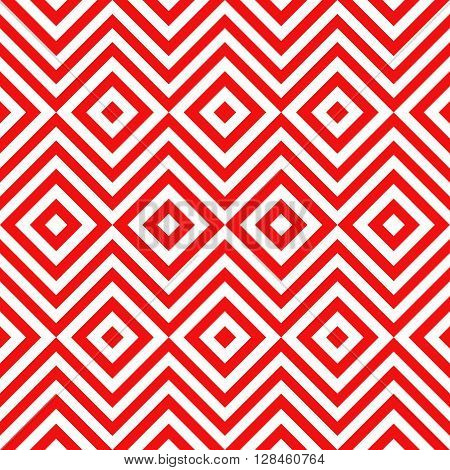 Ethnic tribal zig zag and rhombus seamless pattern. illustration for beauty fashion design. Red white colors. Vintage stripe style.