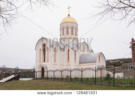 Varvarovka, Russia - March 15, 2016: Side View Of The Church Of Great Martyr Barbara In Varvarovka V
