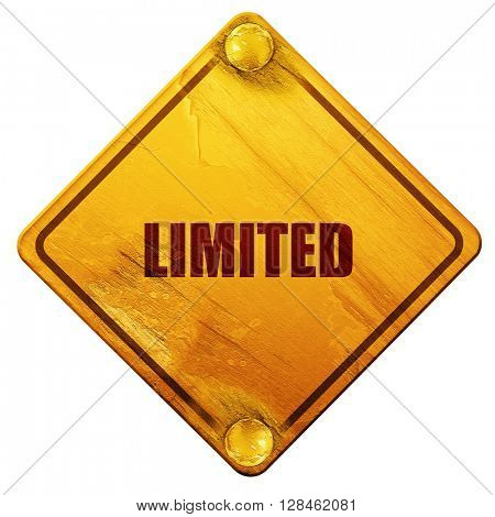 limited edition sign, 3D rendering, isolated grunge yellow road