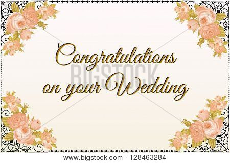Wedding greetings card to special day for newly-weds