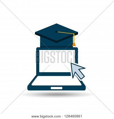 e-learning concept design, vector illustration eps10 graphic