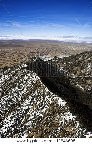 Aerial scenic of Sangre De Cristo Mountains, Colorado, United States.