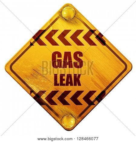 Gas leak background, 3D rendering, isolated grunge yellow road s