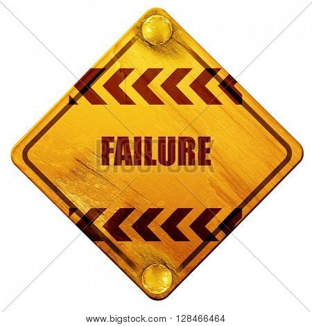 Failure sign with some smooth lines, 3D rendering, isolated grun