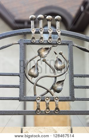 wrought iron ornaments for gates and fence