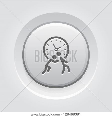 Time for Action Icon. Business Concept.  Grey Button Design