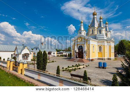 View Of Cathedral Of St. Alexander Nevsky In Kobrin City, Belarus