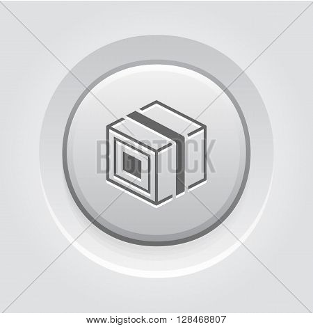 Product Branding Icon. Business Concept.  Grey Button Design