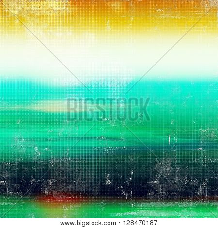 Colorful abstract retro background, aged vintage texture. With different color patterns: yellow (beige); green; blue; red (orange); white; cyan