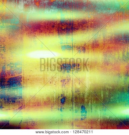 Vintage design background - Grungy style ancient texture with different color patterns: yellow (beige); green; blue; red (orange); pink; cyan