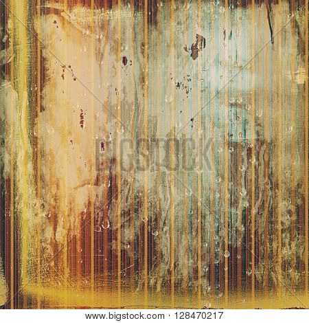Old grunge background or aged shabby texture with different color patterns: yellow (beige); brown; gray; blue; red (orange)