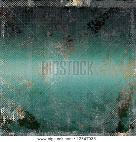 Aged textured background, macro closeup with different color patterns: brown; gray; blue; black; cyan