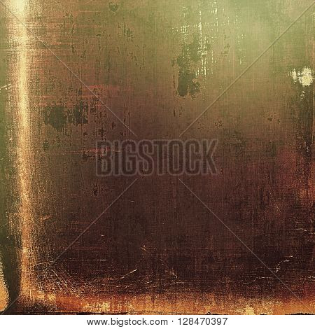 Antique texture, weathered background with vintage look and different color patterns: yellow (beige); brown; gray; green