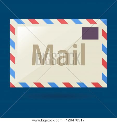 Vector stock of simple postal mail envelope icon