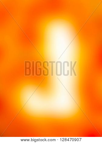 The variocolored blurred background and texture. Letter J.