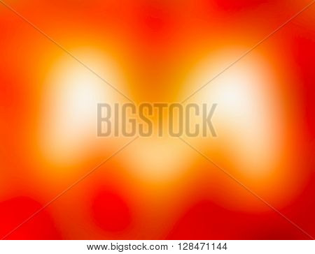 The variocolored blurred background and texture. Letter M.