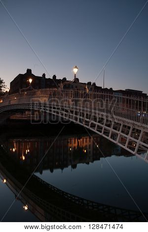 Liffey Bridge over the river Liffey in Dublin City Centre