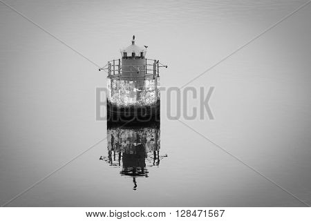 The image of buoy on Baltic sea