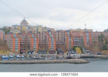 Landscape with the image of Stockholm, Sweden