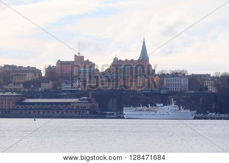 Panorama of an old town of Stockholm, Sweden