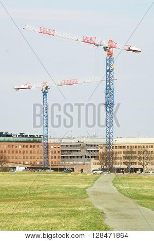 pillar crane in Stockholm, Sweden
