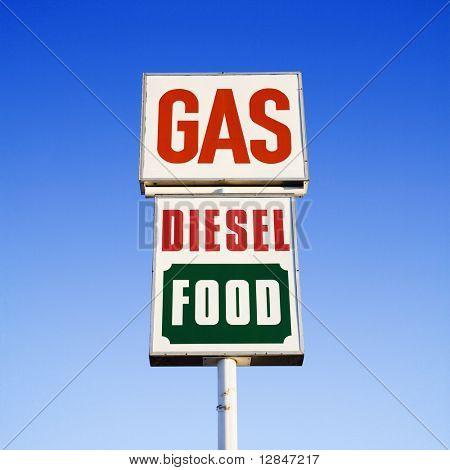 Gas. Diesel. Food.