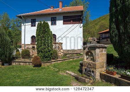 Old Bulilding and Courtyard in medieval Temski monastery St. George, Pirot Region, Republic of Serbia