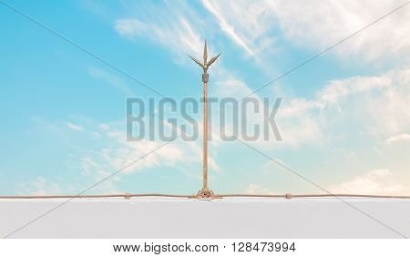 lightning rod copper over the wall safety equipment