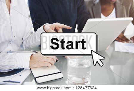 Start Starter Begin Build Launch Motivate First Concept