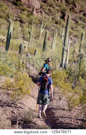Hikers On Rugged Trail