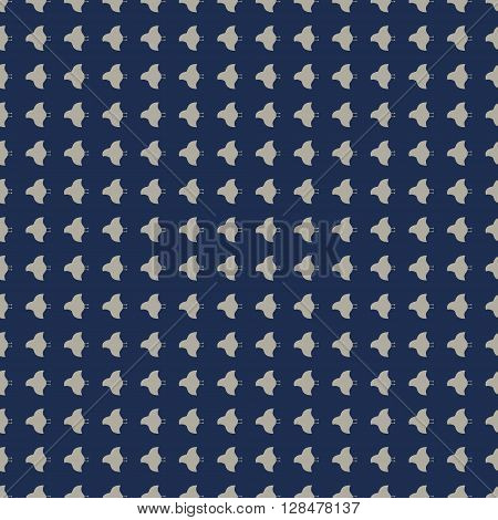 japanese traditional plover pattern in indigo blue background