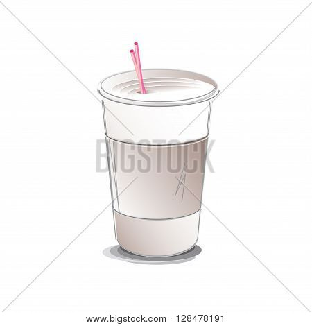 Coffee Cup Paper To-Go Take-Out vector illustration