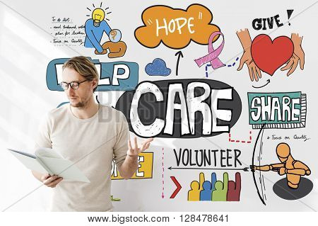 Care Donate Charity Protection Secured Concept