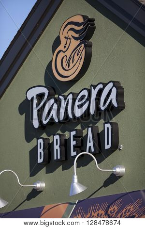 MADISON WI, USA - September 22 2013: Panera Bread restaurant exterior. Panera Bread is a chain of bakery-cafe fast casual restaurants in the United States and Canada.