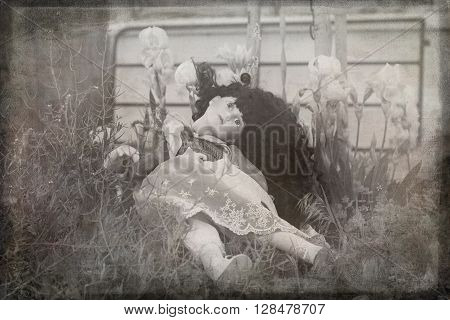 a creepy china doll photo perfect for a scary mystery.