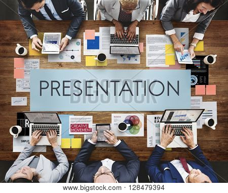 Presentation Business People Meeting Communication Concept