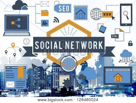 Social Network Media Internet Connection Concept