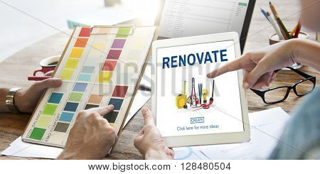 Renovate Decor Design Home House Improvement Concept