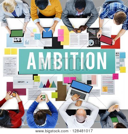 Ambition Action Athletics Business Growth Concept