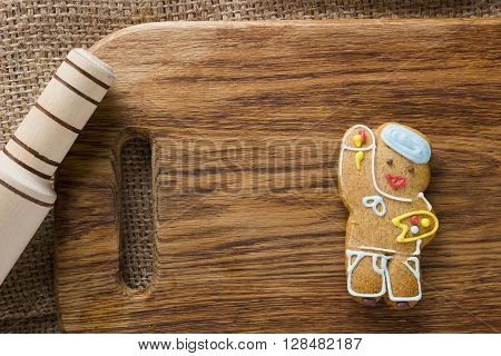 Cookies in the shape of man profession artist