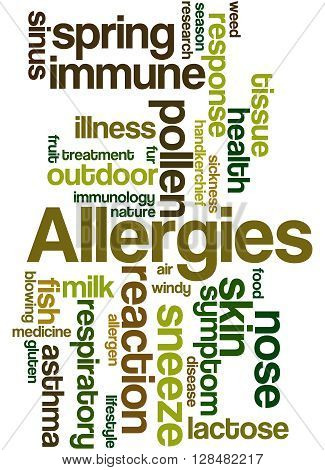 Allergies, Word Cloud Concept 9