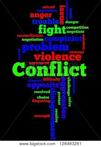 Conflict, Word Cloud Concept 5