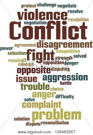 Conflict, Word Cloud Concept 6