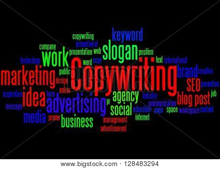 Copywriting, Word Cloud Concept